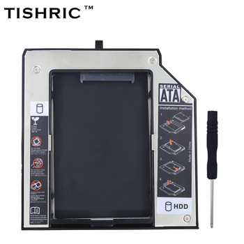"Tishric Алюминий 2nd HDD Caddy 12.7 мм SATA 3.0 2.5 ""SSD HDD корпус для Lenovo ThinkPad T420 T430 T510 T520 T530 optibay"